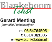 Blankeboom Tekst